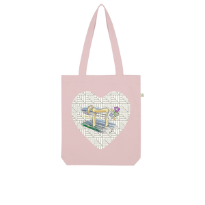 Judaica Chai Heart by BenJoy 103 Organic Tote Bag