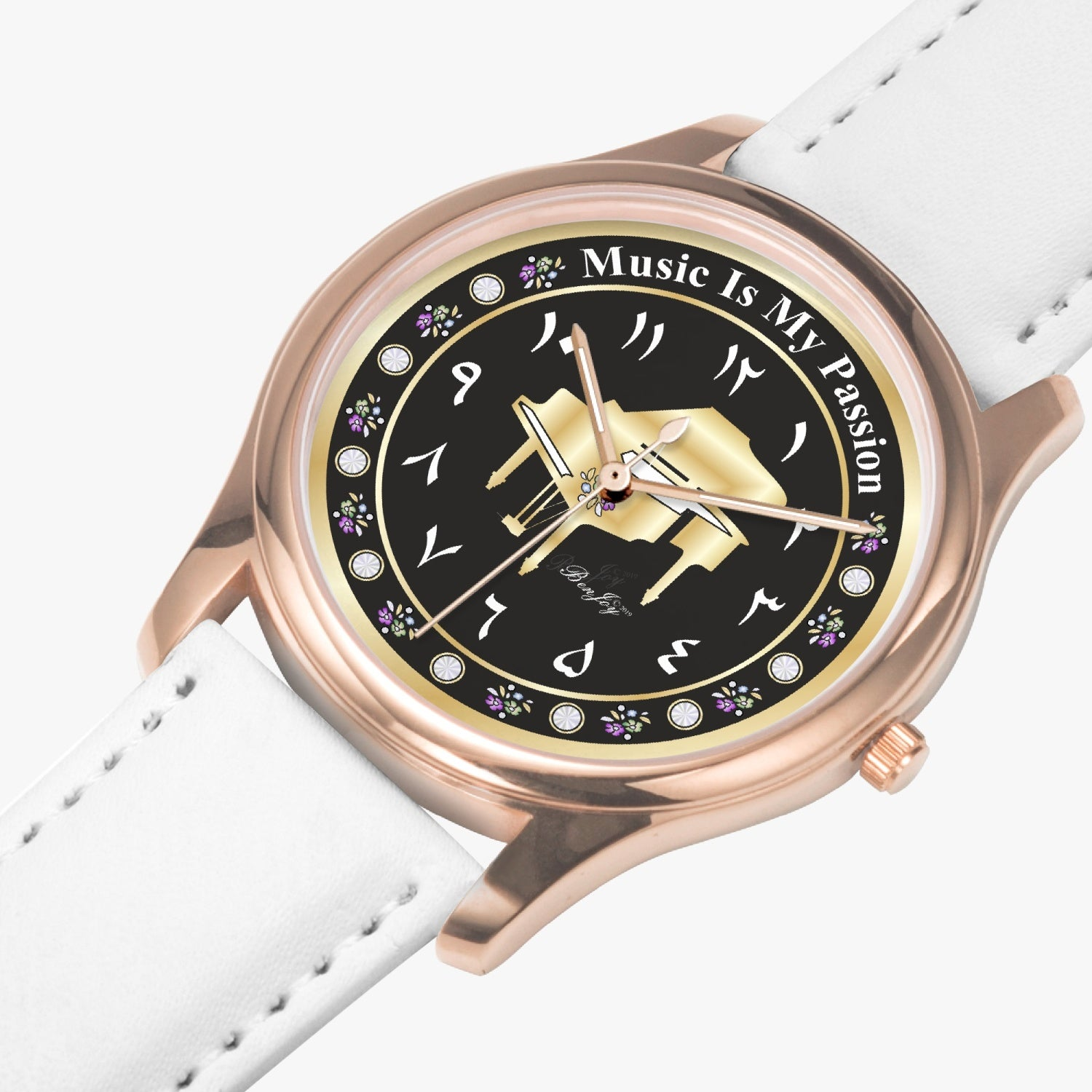 Piano Quartz Watch (Rose Gold) By BenJoy