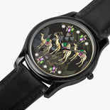 Simple Camel Floral Watch By BenJoy