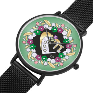 Judaica Chai Flower Heart Watch By BenJoy