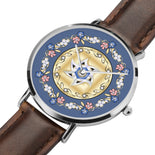 Purple And Gold Floral Lining Watch By BenJoy