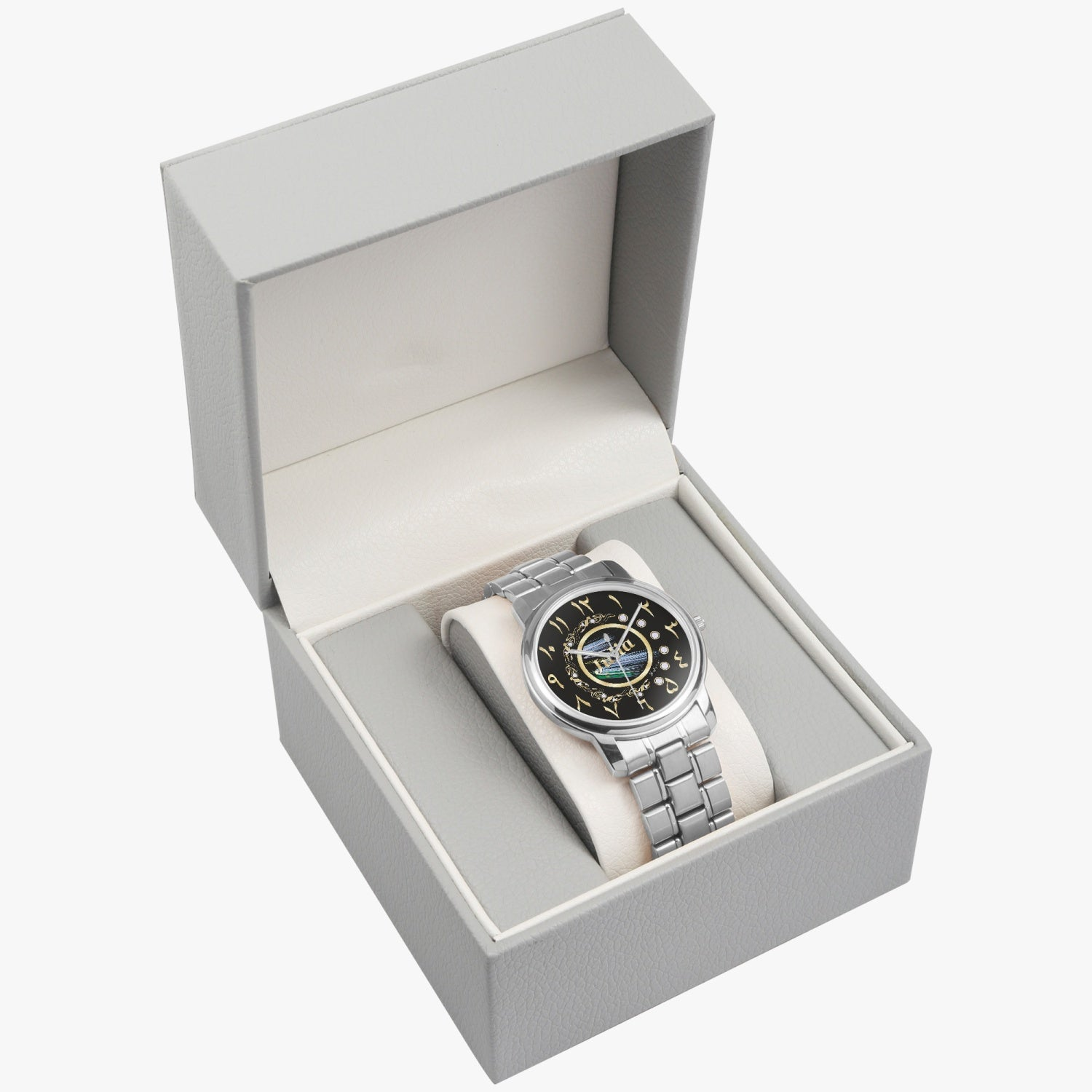 Arabic Stainless Steel Watch By BenJoy
