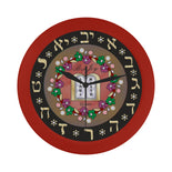 Wall Clock / Ten Commandments By BenJoy Boys Celebrating Elegant Black Wall Clock