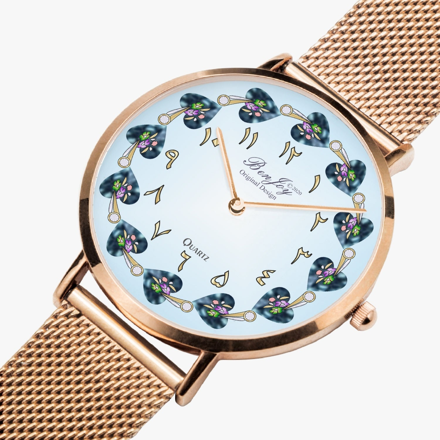Arabic Fashion Ultra-thin Stainless Steel Quartz Watch By BenJoy