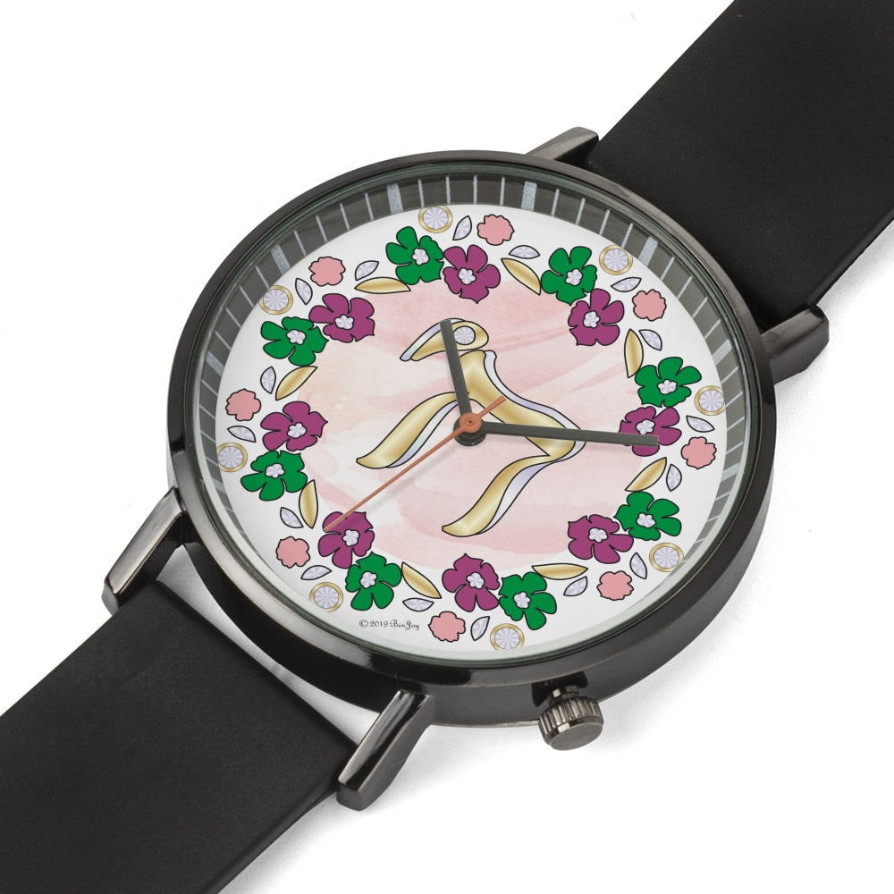 Judaic Floral Chai Watch By BenJoy