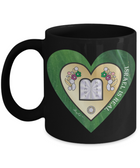 I Love Israel Green And Gold Heart Mug By BenJoy