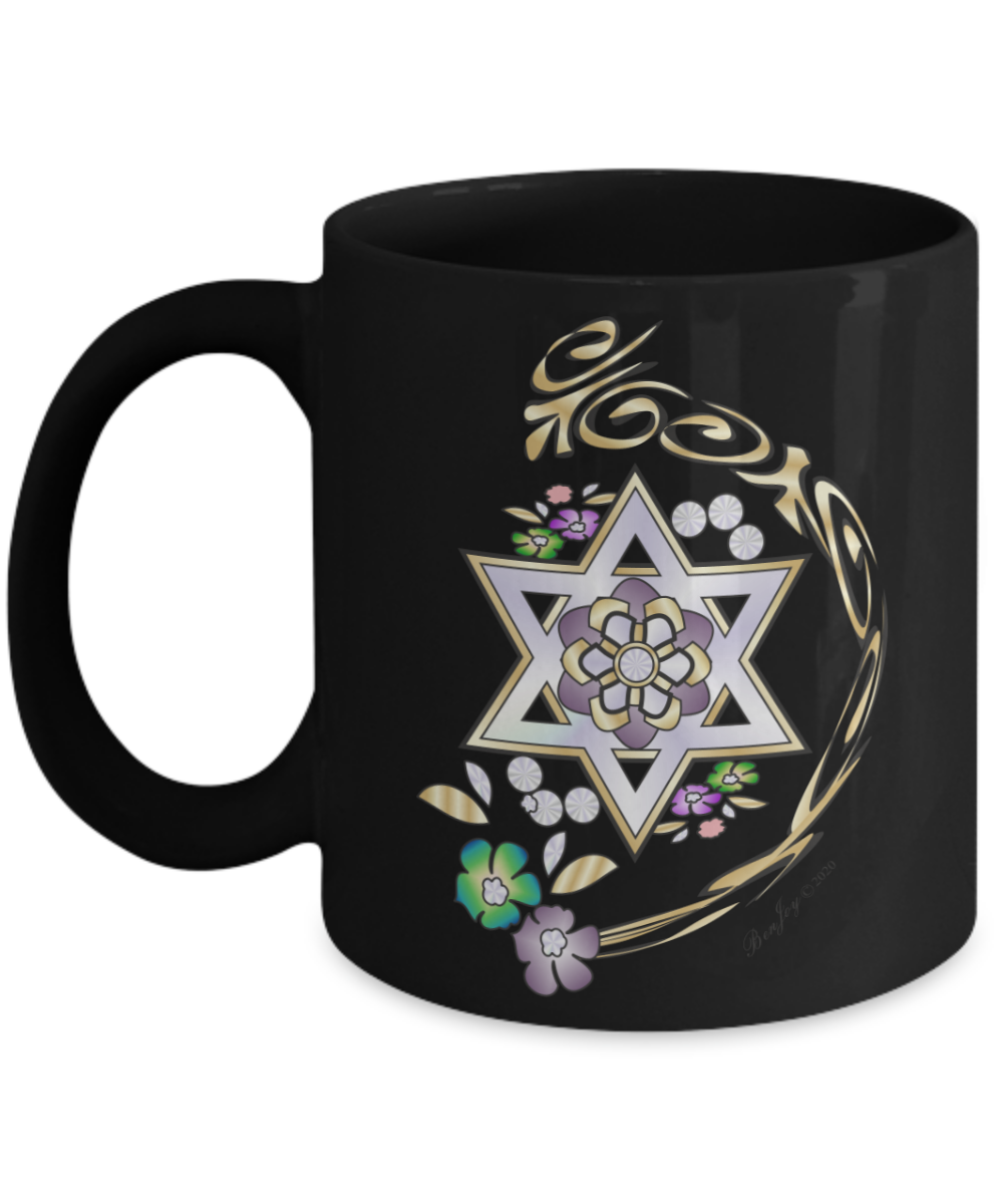 Star Of David Gold Lining Mug By BenJoy