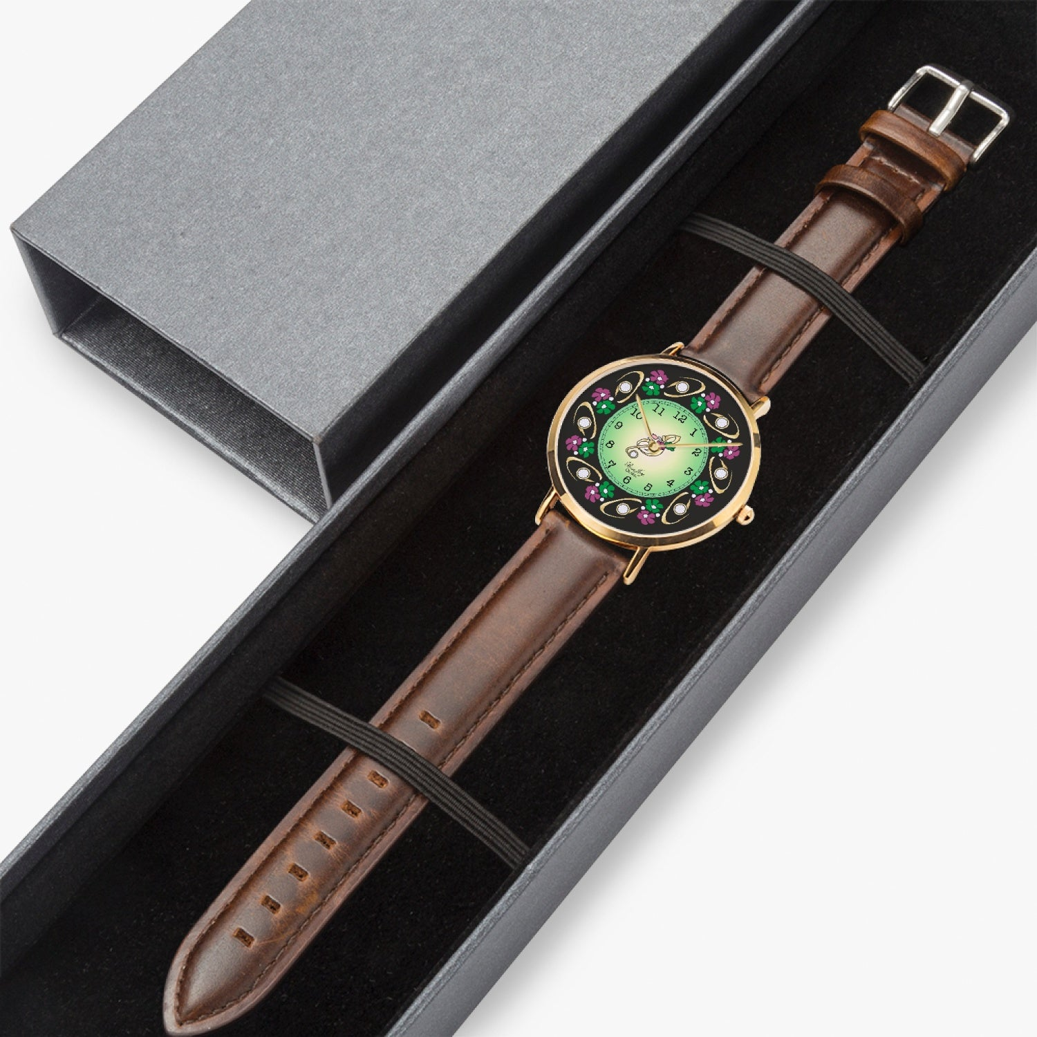 Floral & Music Note Watch By BenJoy