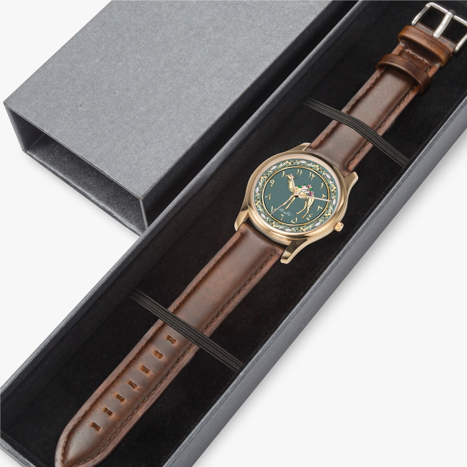 Arabic Camel Leather Strap Watch By BenJoy