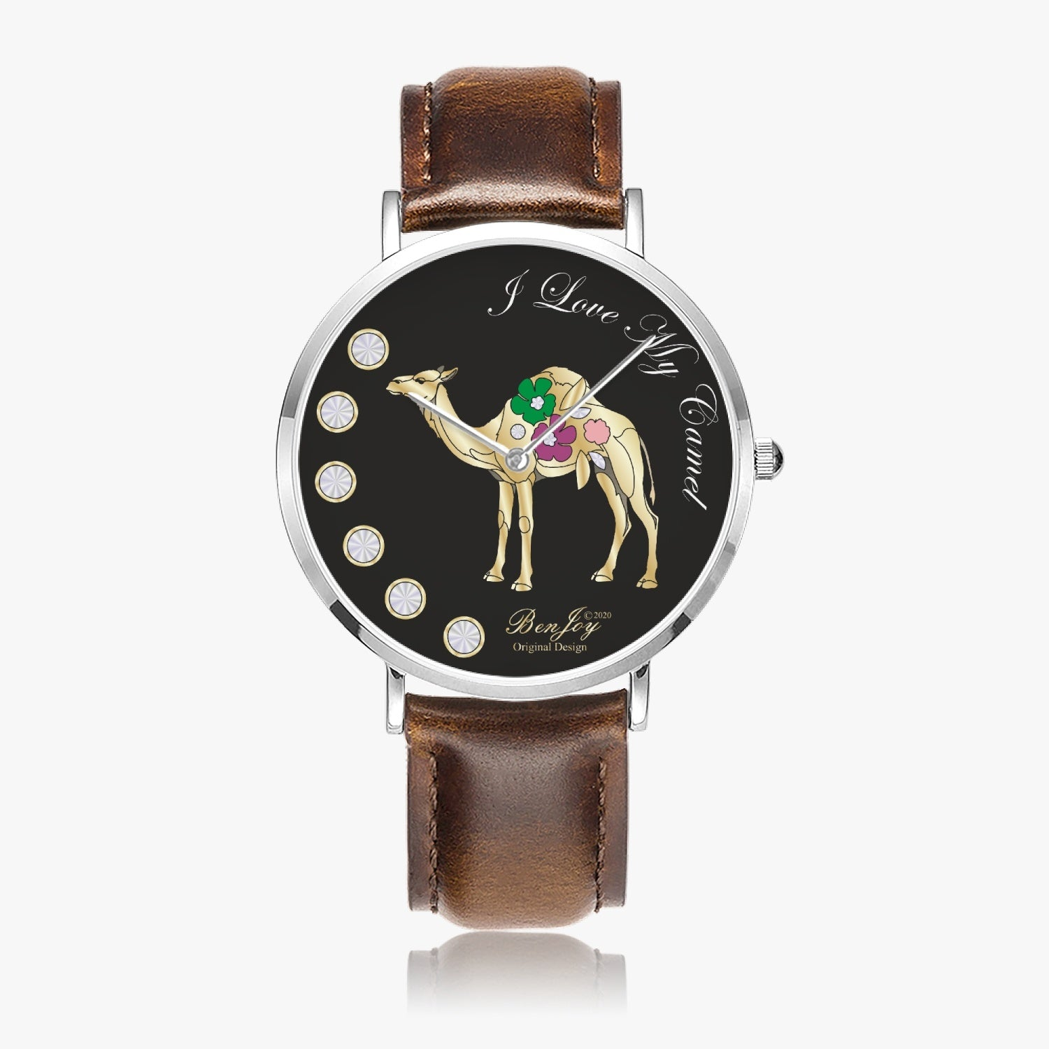 I Love My Camel Leather Watch By BenJoy