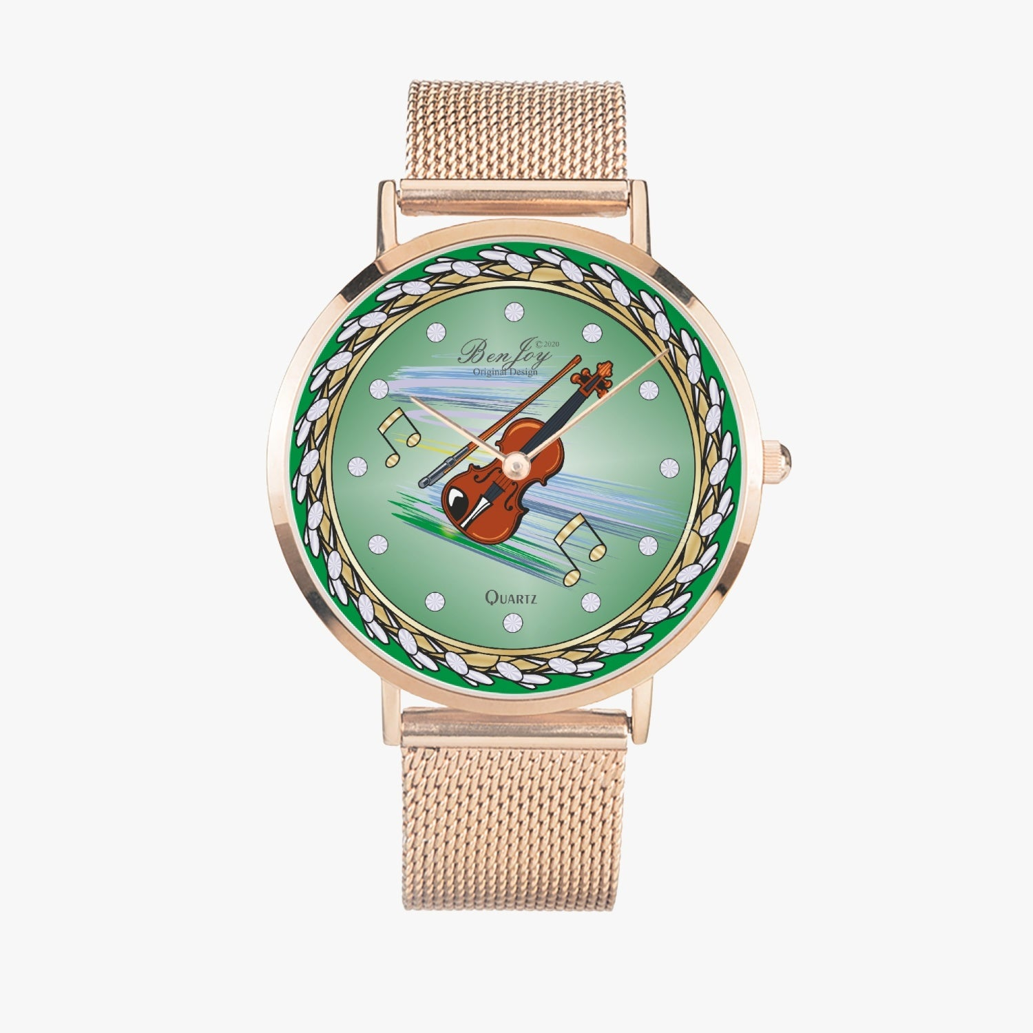 Arabic Violin Ultra-thin Stainless Steel Watch By BenJoy