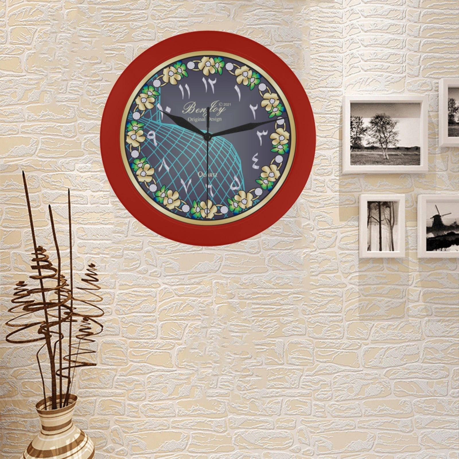 Arabic Wall Clock Design By BenJoy Boys Celebrating Elegant Black Wall Clock