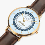 Ultra-Thin Leather Strap Quartz Watch (Rose Gold With Indicators) By BenJoy