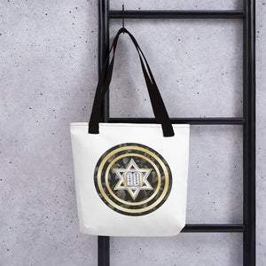 Star Of David Gold Round Lining Tote Bag By BenJoy