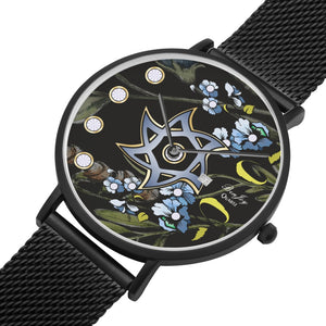 Black And Blue Judaica Star Of David Watch By BenJoy