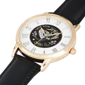 Judaic Gold Heart Original Design Watch By BenJoy
