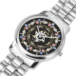 Floral Lining Silver And Gold Star Of David Personalized Watch By BenJoy