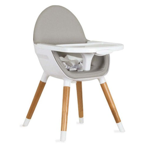 Koo-Di  Wooden Highchair Grey - Hushabyebaby.co.uk