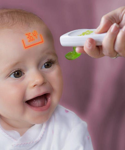 6 in 1 Projection Thermometer - Measures temperature without contact - Hushabyebaby.co.uk