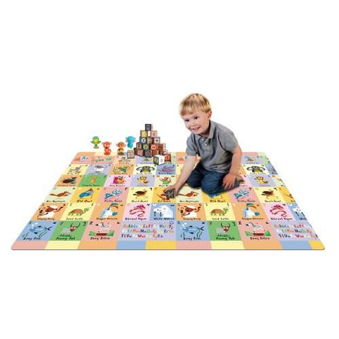 Large Reversible Playmat 170 cm x 190 cm City/ABC - Hushabyebaby.co.uk
