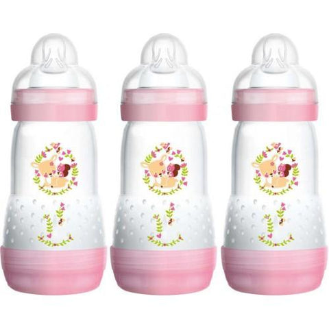 Anti-colic 260 ml 3 pack GIRL - Hushabyebaby.co.uk