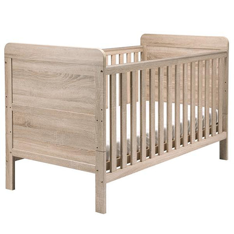 East Coast Nursery Cotbed Fontana - Washed Wood - Hushabyebaby.co.uk