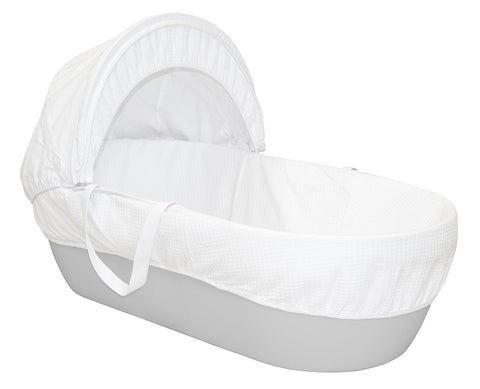Moses Basket Pebble Grey by Shnuggle - hushabyebaby-co-uk.myshopify.com