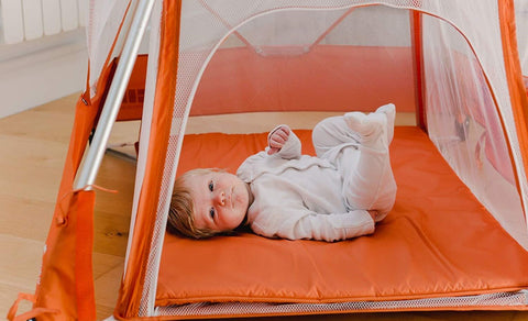 Babyhub Sleepspace -Orange - Hushabyebaby.co.uk