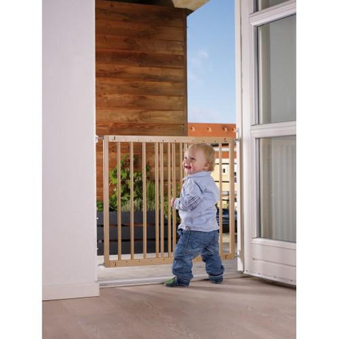 Multidan Metal Extending Gate - Beechwood by Baby Dan - Hushabyebaby.co.uk