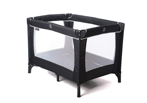 Red Kite Travel Cot - Black - Hushabyebaby.co.uk