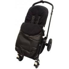 Cuddles footmuff for pushchair black with black fleece - Hushabyebaby.co.uk