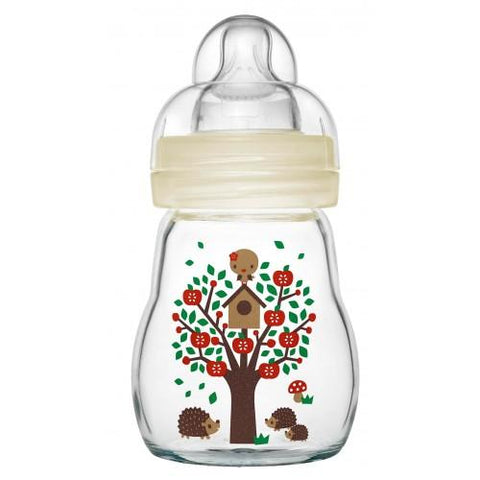 MAM Feel Good Glass 170 ml Bottle - Hushabyebaby.co.uk