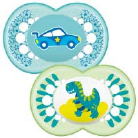 MAM Original soother 12+ months BOY x 2 pack - Hushabyebaby.co.uk