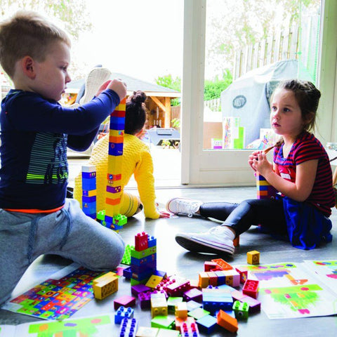 Learning to Build - 60 Blocks - Hushabyebaby.co.uk