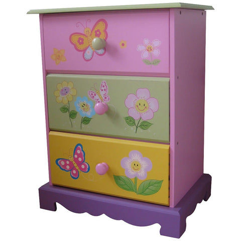 Butterfly Garden - Three Drawer Storage - Hushabyebaby.co.uk