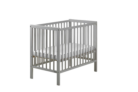 East Coast Nursery Carolina Cot Space Saver With Mattress - Grey - Hushabyebaby.co.uk