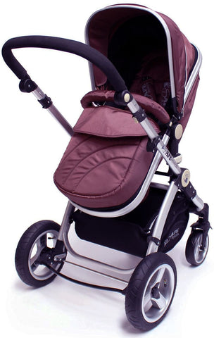 2 in 1 iSafe Pram System - Hot Chocolate - Hushabyebaby.co.uk