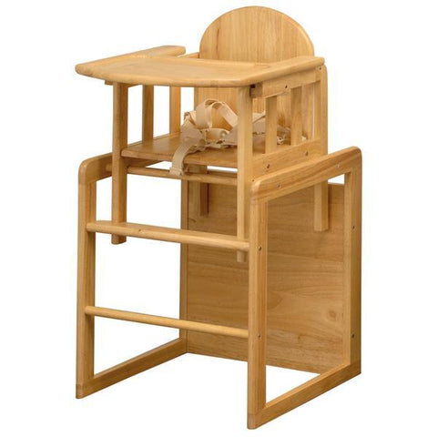 East Coast Nursery Highchair All Wooden Combination - Beech Wood - Hushabyebaby.co.uk