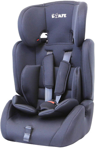iSafe Value Comfort Baby Car Seat Group 123 Junior Trio Booster Seat - Black - Hushabyebaby.co.uk
