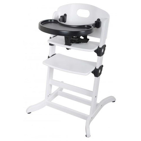 East Coast Nursery Highchair Wooden Contour Multi Height Highchair - White - Hushabyebaby.co.uk