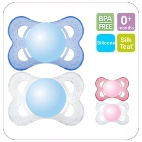 MAM 0+ Month Soother Crystal x 2 pack - hushabyebaby-co-uk.myshopify.com
