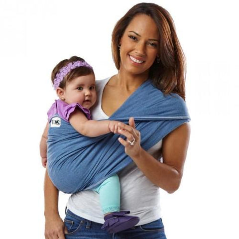 Solid Cotton Carrier Basic - Colour Denim - Size Medium - hushabyebaby-co-uk