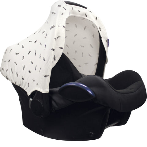 Dooky Hoody Replacement Infant Car Seat Hood Black Feather - Hushabyebaby.co.uk