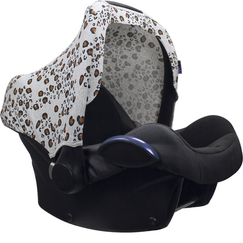 Dooky Hoody Replacement Infant Car Seat Hood Little Leopard - Hushabyebaby.co.uk