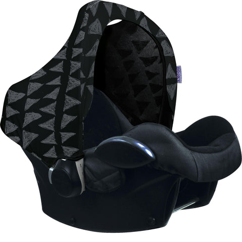 Dooky Hoody Replacement Infant Car Seat Hood Black Tribal - Hushabyebaby.co.uk