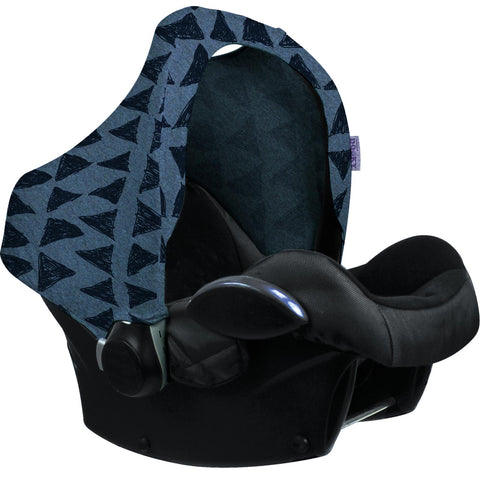 Dooky Hoody Replacement Infant Car Seat Hood Blue Tribal - Hushabyebaby.co.uk