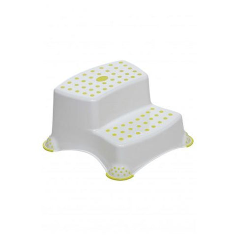 Safety First Double Step Stool - White/Lime - Hushabyebaby.co.uk