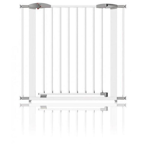 Extendable Swing Shut Gate - White Metal by Clippasafe - Hushabyebaby.co.uk