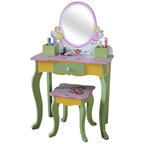 Fairy Dressing Table and Stool (Oval Mirror) - Hushabyebaby.co.uk