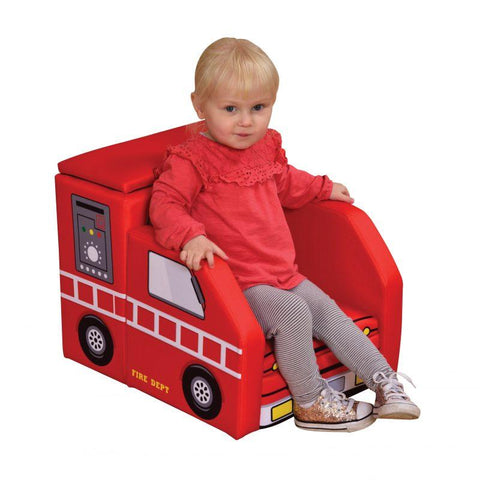Fire Engine Sofa with Storage by Liberty House - hushabyebaby-co-uk